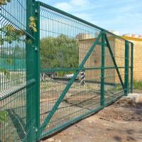 Еврозабор темно-зеленый RAL 6005 Еврозабор из сетки с полимерным покрытием