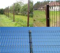 3Д забор из панелей. Сетка 3D
