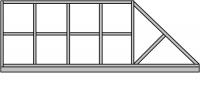 Готовые каркасы ворот и калиток. Изготовление по размерам заказчика.