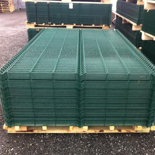 Еврозабор 3д сетка темно-зеленый цвет, Размер 1,5х2,5 метра