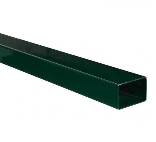Столб из профильной трубы, цинк и полимер 6005