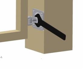 Петля регулируемая с гайкой и пластиной для бетонных и металлических столбов HP18O/20O