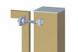 Петля регулируемая с пластиной для бетонных и металлических столбов HL20/24G
