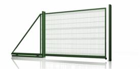 Откатные ворота из 3Д сетка