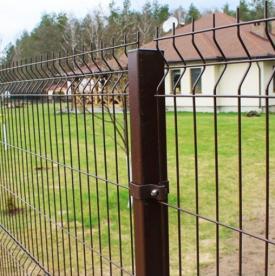 3Д забор шоколадно-коричневого цвета RAL 8017, Размер 1,2х2,5 метра.