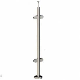 Круглая стойка для стеклянного ограждения, 4 стеклодержателя, арт. 724