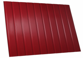 Металлопрофиль МП8, 1,8 метра 3005 вишнёвый