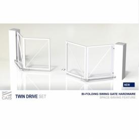 Комплект для складных распашных ворот-гармошка. Арт. twin drive set 3.0