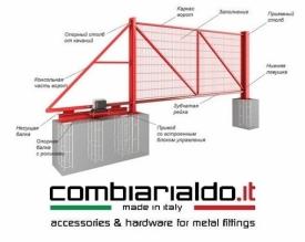 Готовый каркас откатных ворот на базе комплектующих Combi Arialdo Piccolo 500.